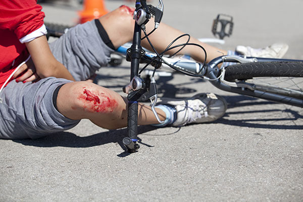 Cyclist hurt after road traffic crash
