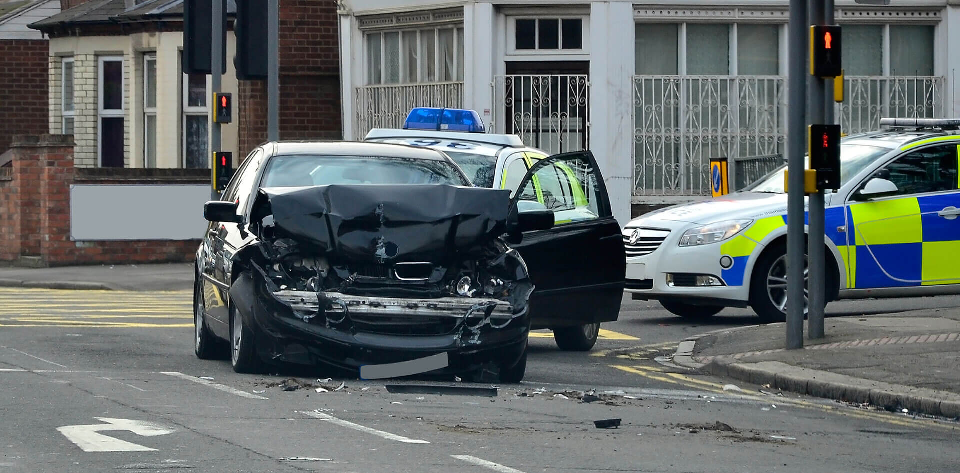 Car involved in road traffic accident